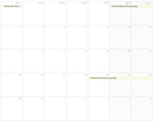 April Show Calendar 2013
