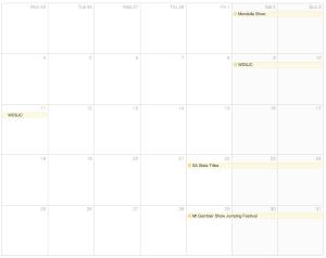 March 2013 Show Calendar